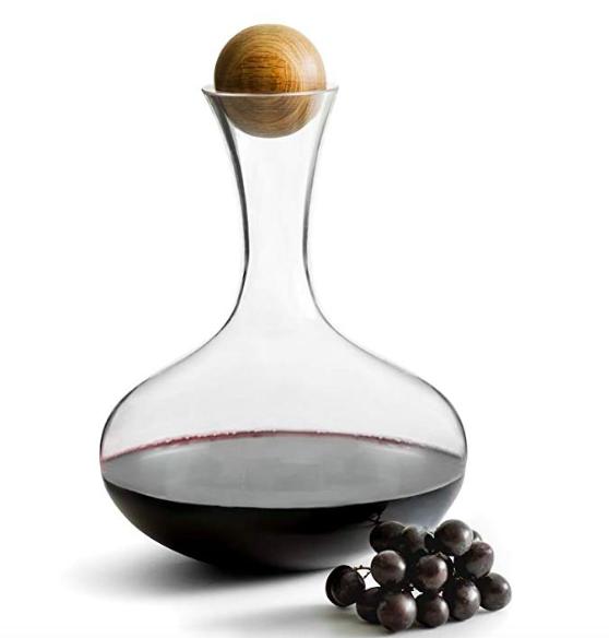 Red wine carafe