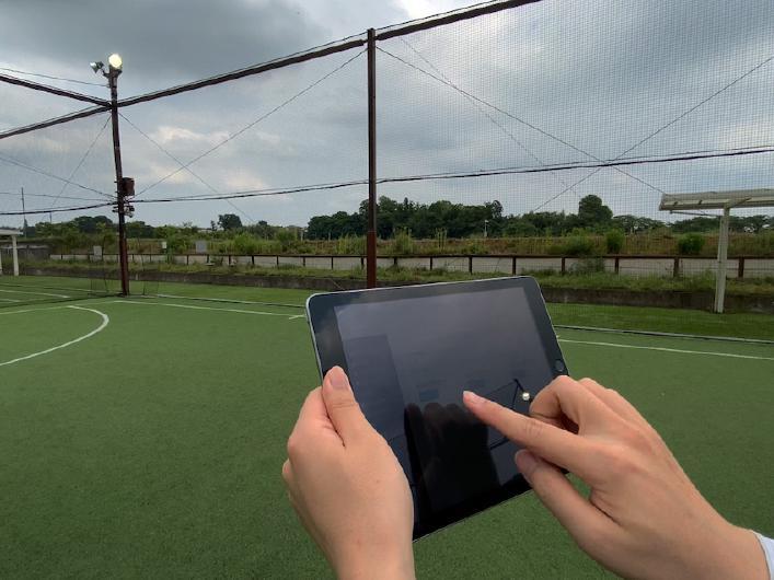 屋外スポーツ施設の照明制御