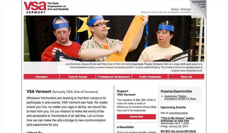 VSA Vermont's website