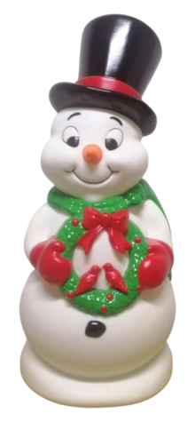 Snowman with Wreath photo