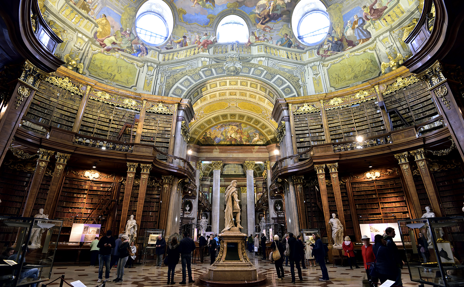 the state hall in the national library of Austria