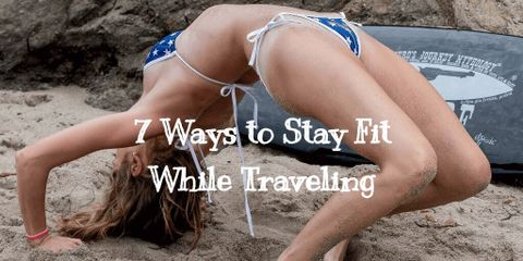 7 Easy to Do Travel Fitness Tips. Do them on your trips and you can stay healthy and fit even on longer vacations. And a bonus infographic.