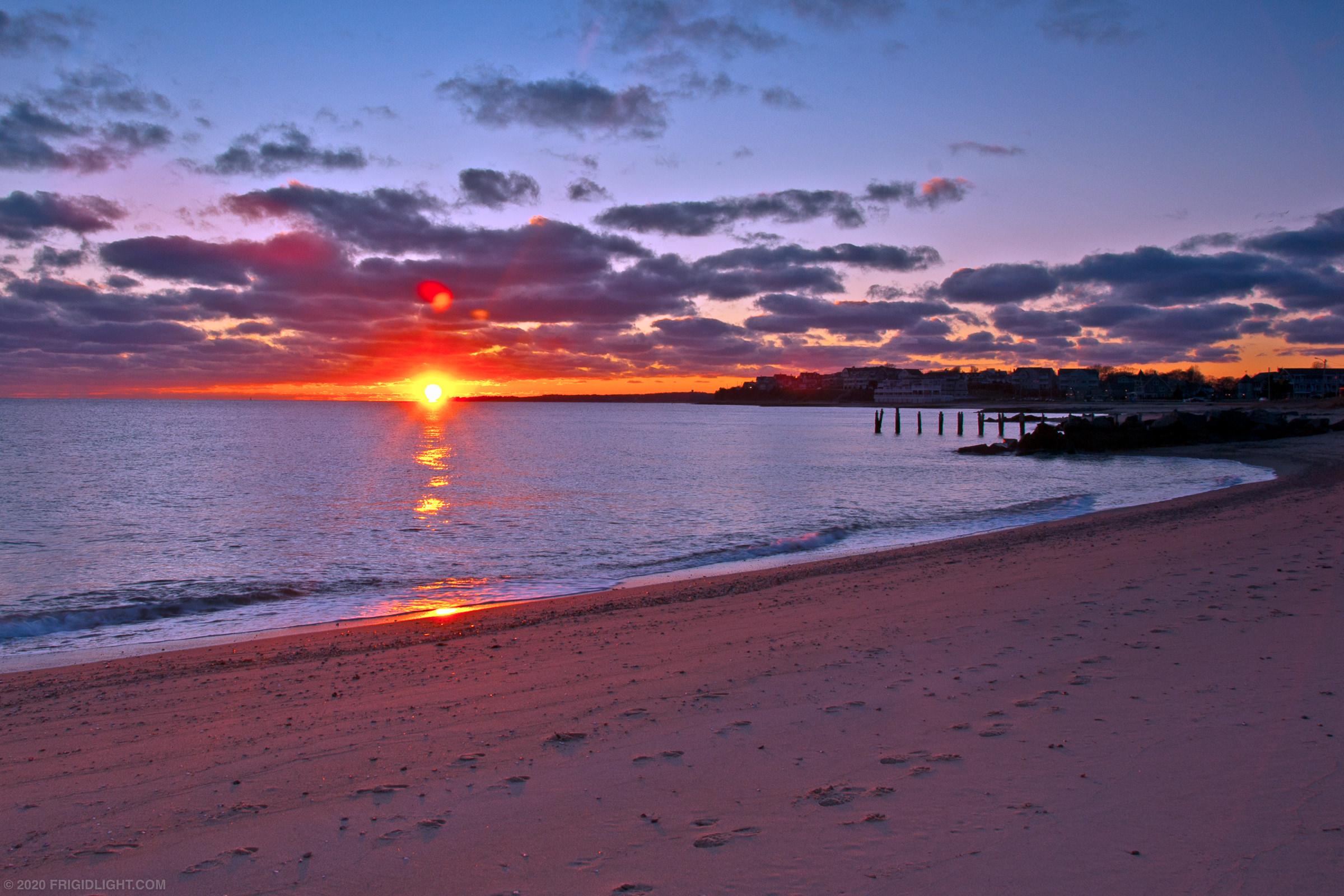 Bristol Beach Christmas Eve Sunset