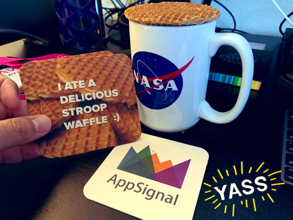stroopwafels sent by AppSignal