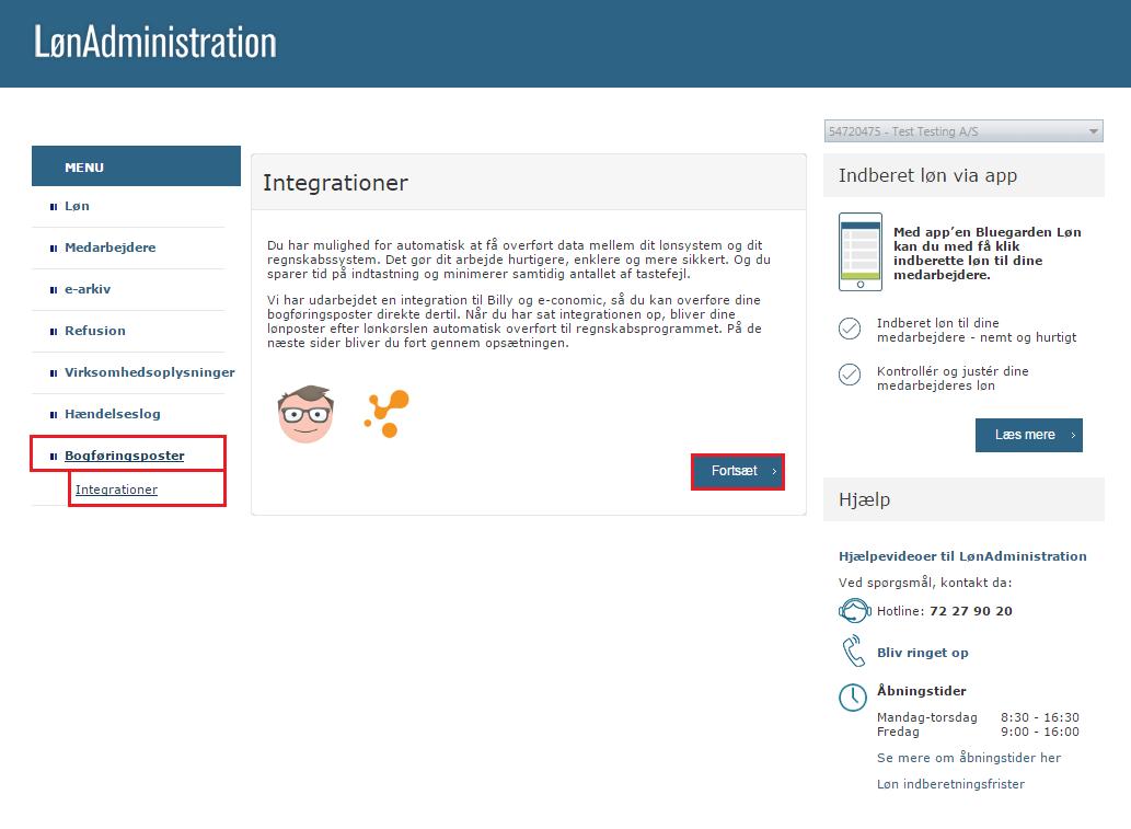 Billy Regnskabsprogram integrerer med LoenAdministration