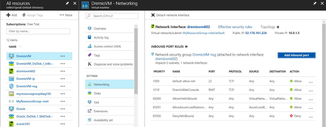 Confirm new rule on Azure