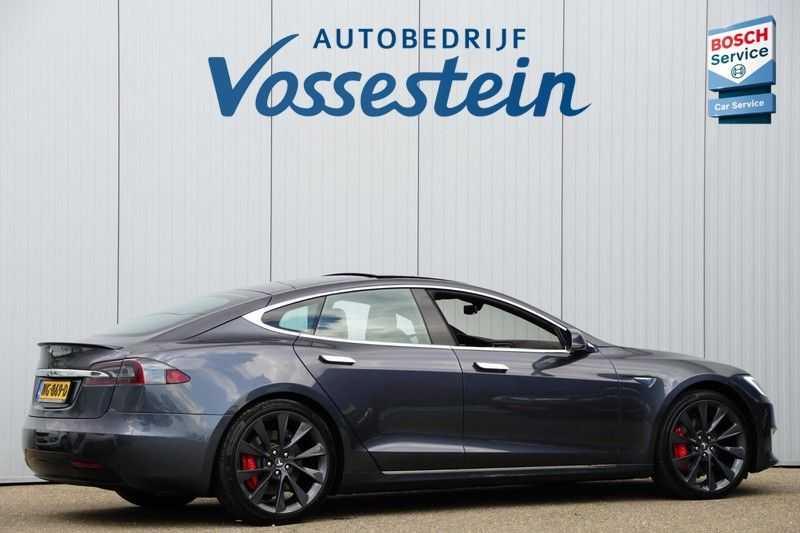 Tesla Model S P90D Performance Ludicrous 576pk / Autopilot / Pano / 21inch / Carbon / 162.500,- Nieuw afbeelding 6