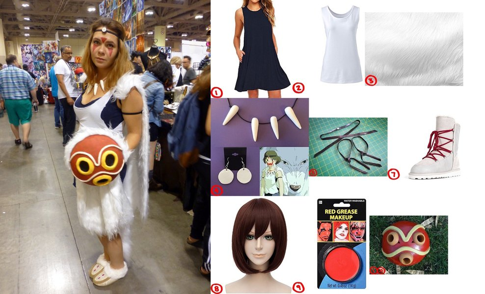 dress like princess mononoke costume for halloween 2018