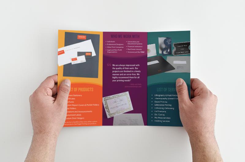 Inner brochure panels