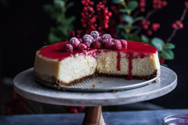 Cranberry Orange Cheesecake