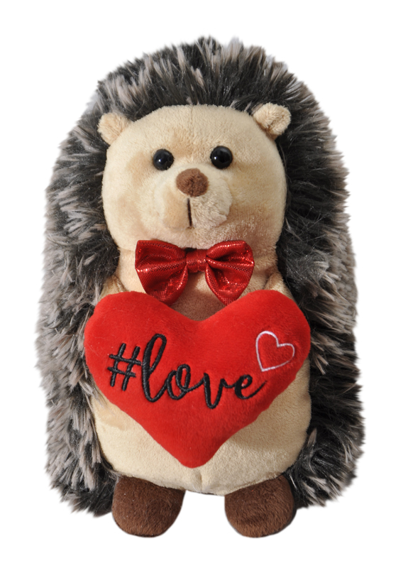"The Petting Zoo: 10"" Valentine Soft & Tenderly Hedgehog"