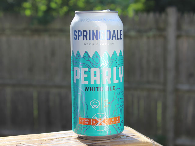 Pearly, a White Ale brewed by Springdale Beer Company