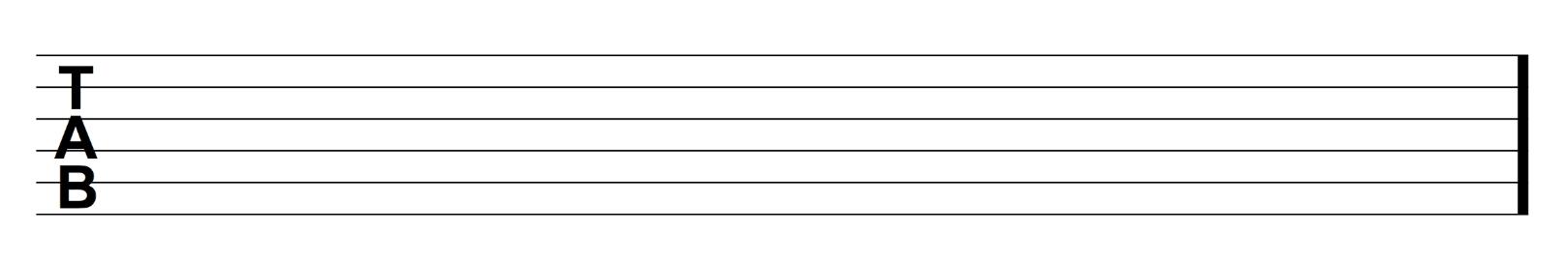 blank tab example