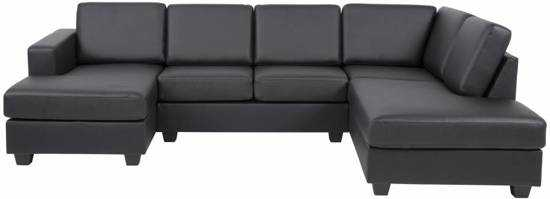 Fyn Wise Hoekbank Uvorm Met Chaise Longue Links Bonded Leather Zwart 9200000084055153_1
