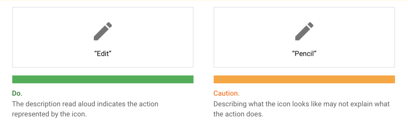 """""""Indicating elements by action"""" is recommended by Material Design."""