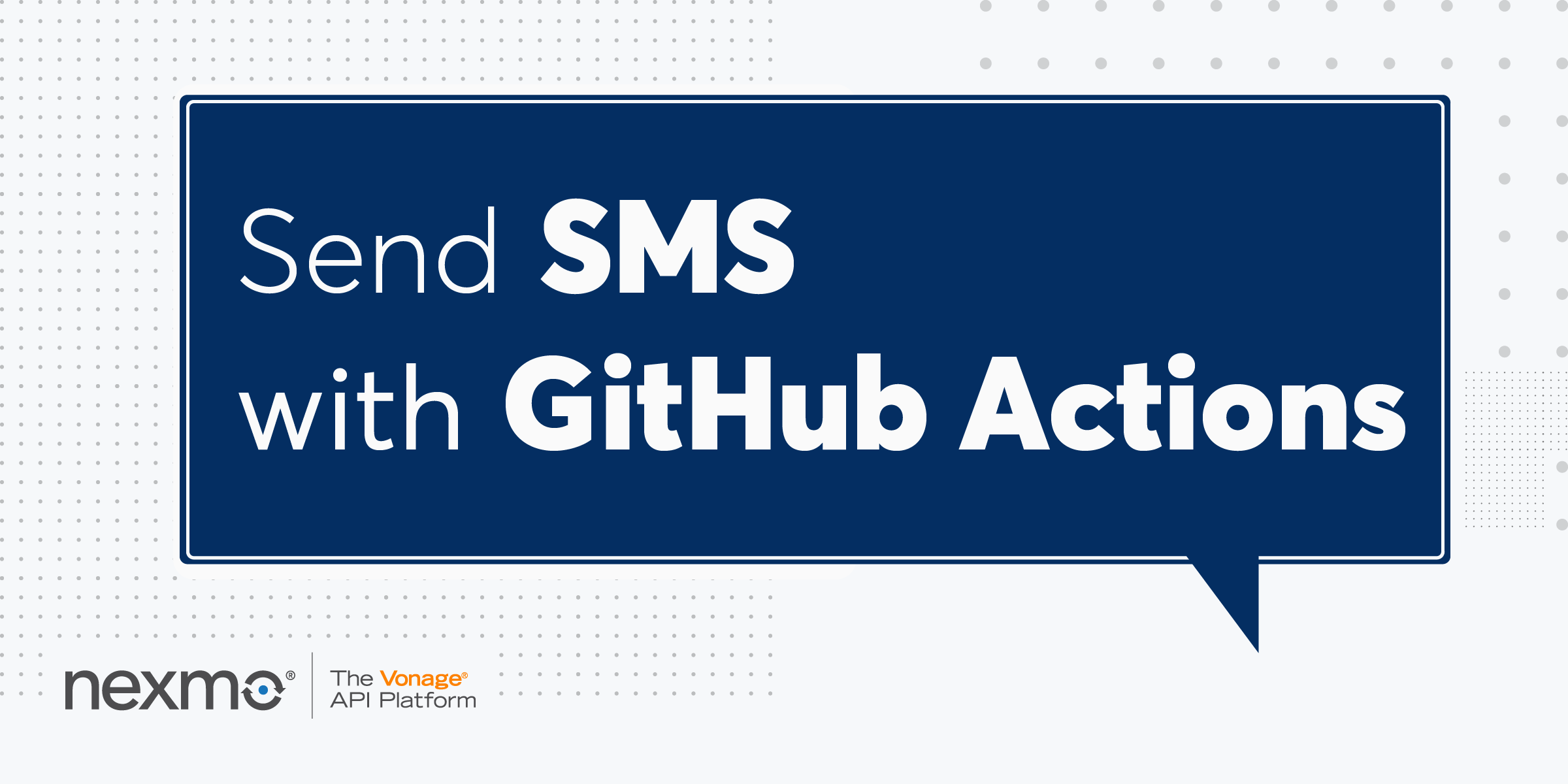 Send SMS with GitHub Actions