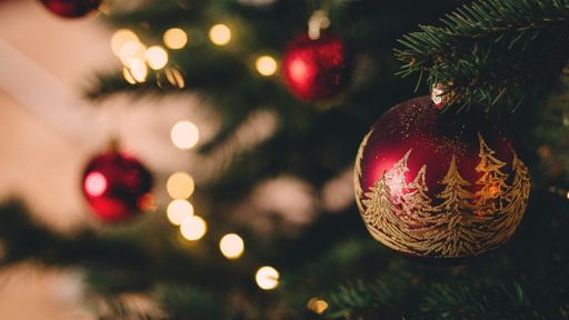 Christmas tree with a baubel