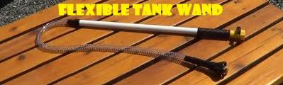 flexible tank wand for rv toilets