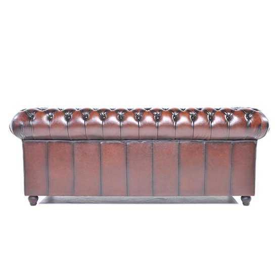 The Original Chesterfield Brighton 3zitsbank Zetel Salon Antiek Bruin 550x550 56 cm