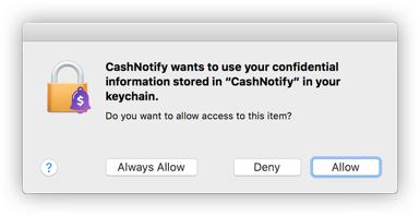 MacOS keychain authorization