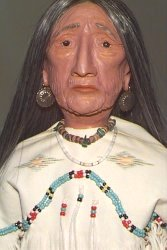 old native american woman doll close up