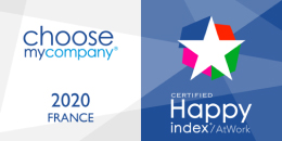 Choose my company 2020 France / Certified Happy index at work