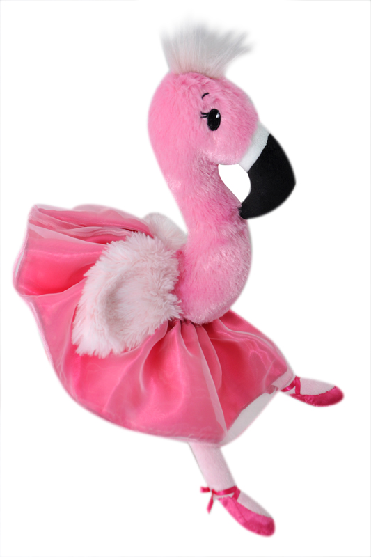 "The Petting Zoo: 12"" Ballerina Flamingo"