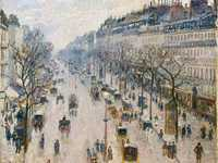 Pissarro's Boulevarde Montmatre: Spring Morning sold for £19.9 million in London in 2014. It is the first Pissarro on our list.