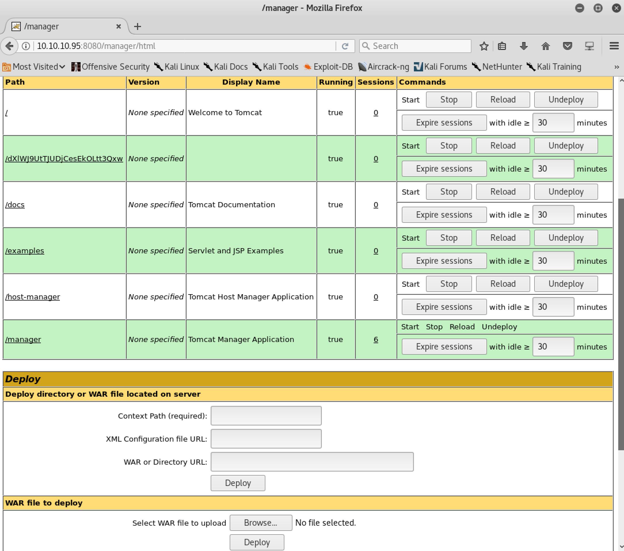 HackTheBox Jerry - Tomcat Manager App