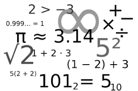 Several math symbols and numbers
