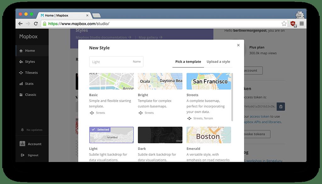 Mapbox Start Screenshot