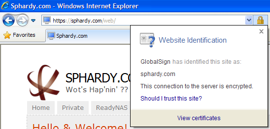 IE SSL Valid