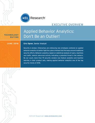Web Behavior Analytics - Top Security Trends 2017 - New Enterprise Security Strategies