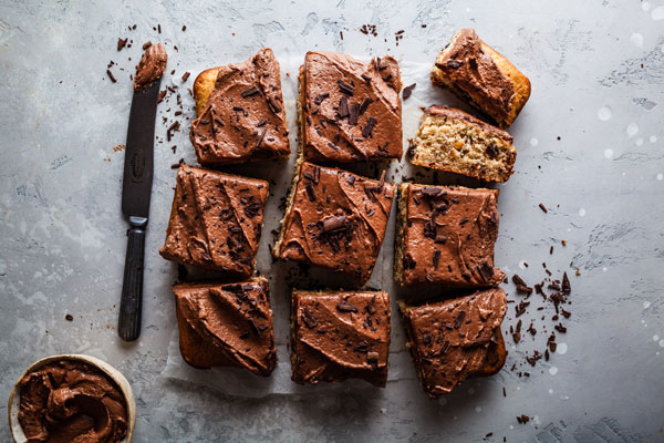 Banana Hazelnut Cake With Nutella Frosting