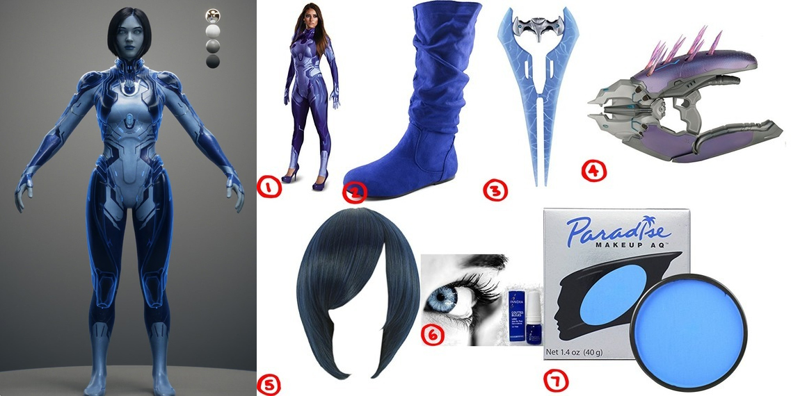 dress like cortana costume for halloween 2018