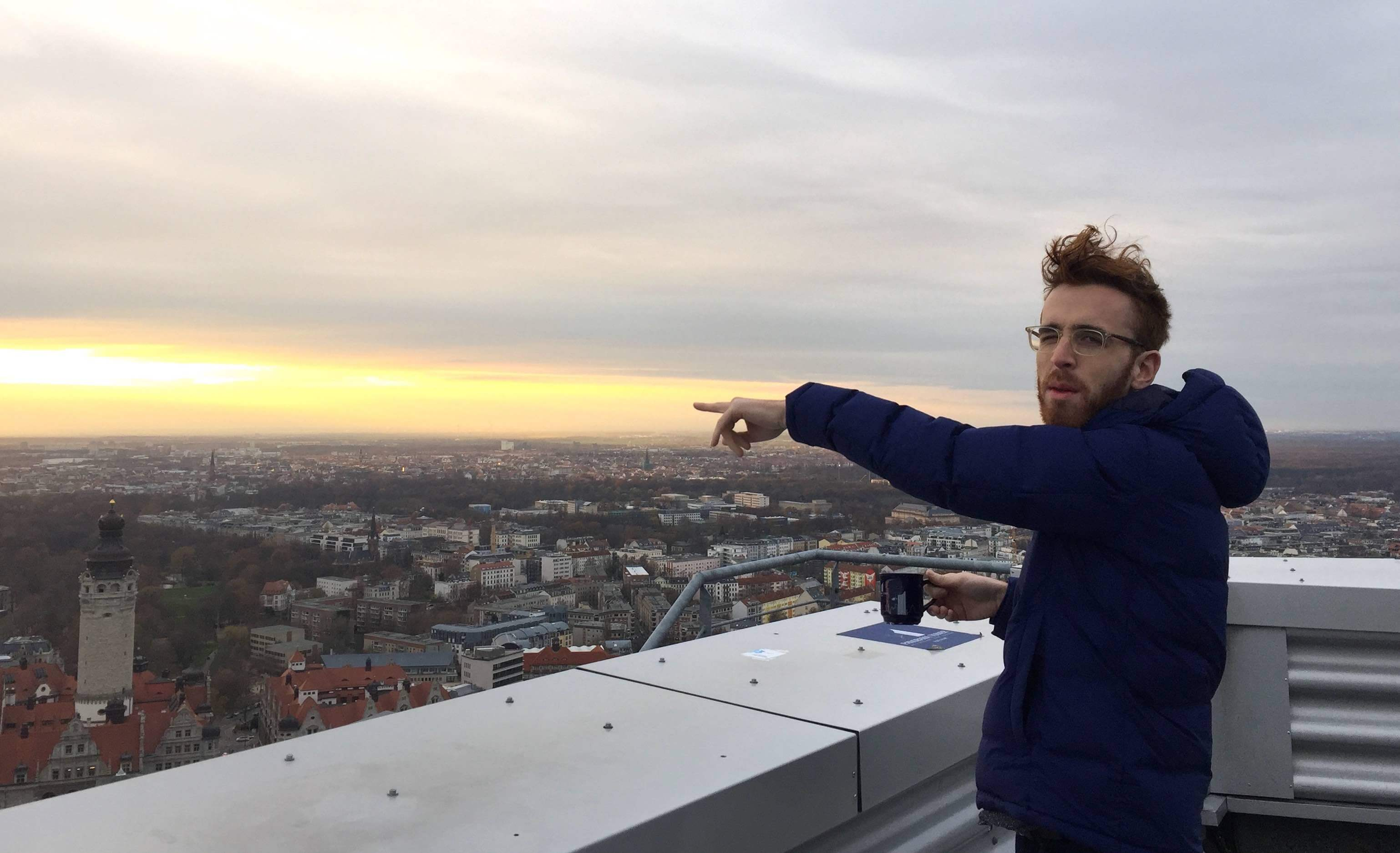photo of me pointing at a random place