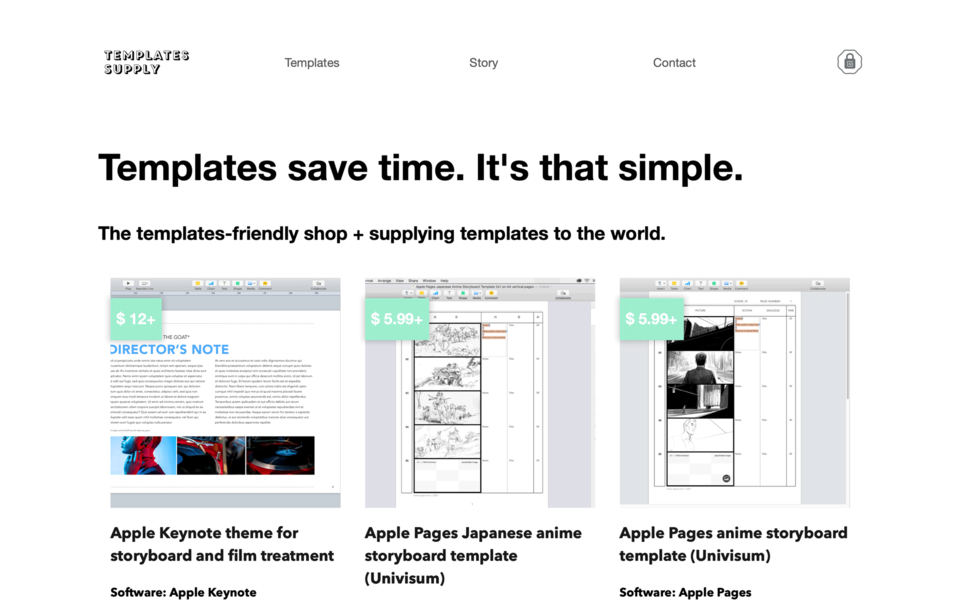 Template Supply home page
