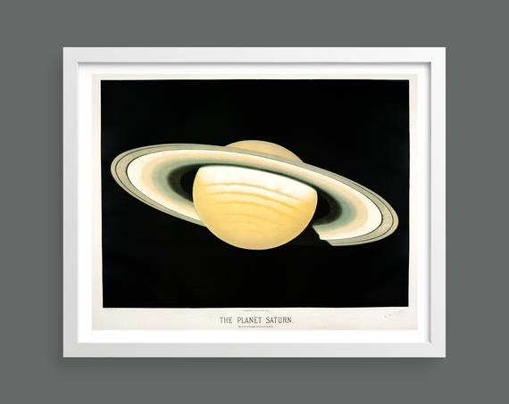 The Planet Saturn by Etienne Leopold Trouvelot