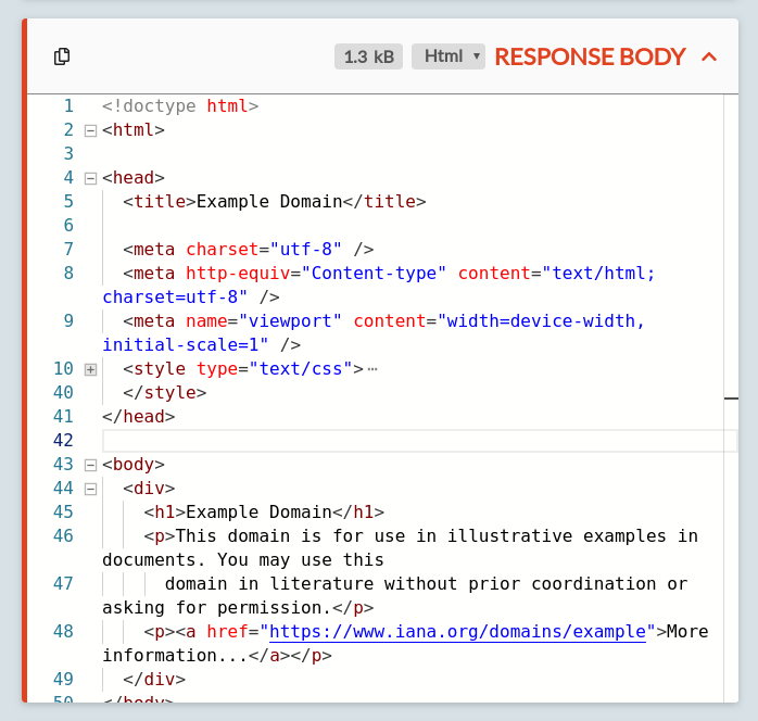 The body of an HTTP response