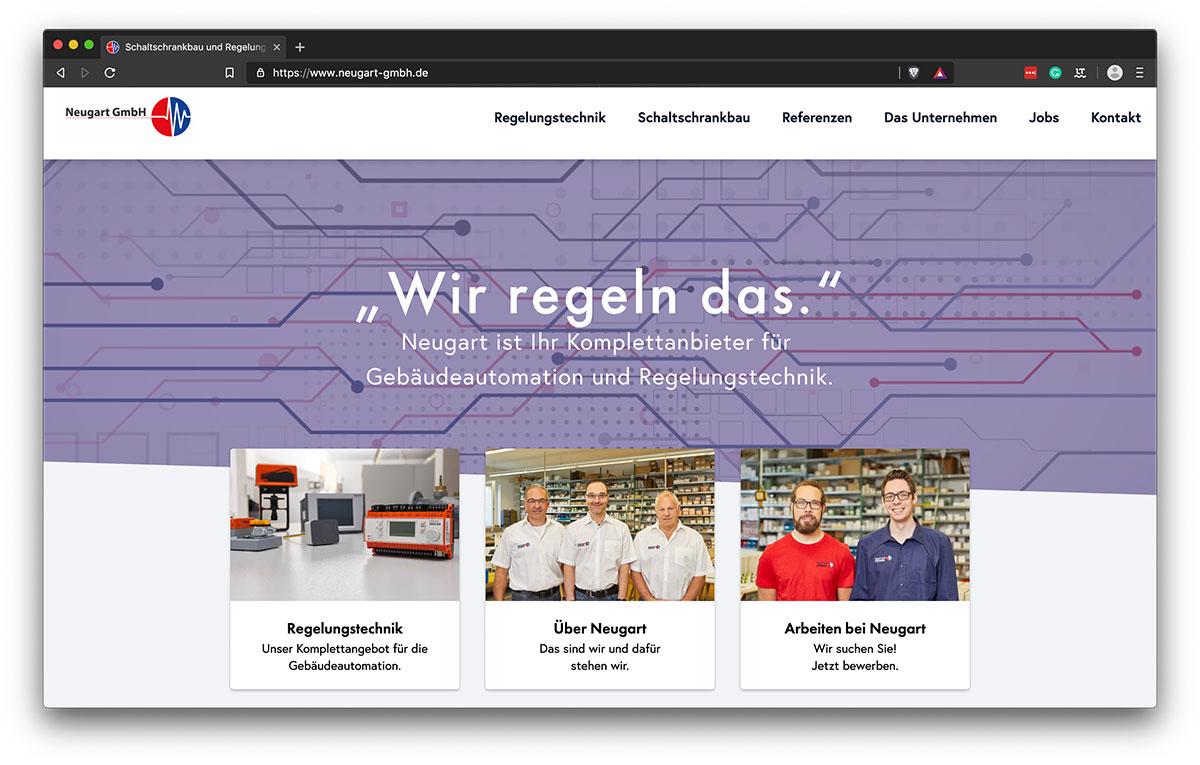 Webdesign Freiburg - KreativBomber - Neugart GmbH - Start