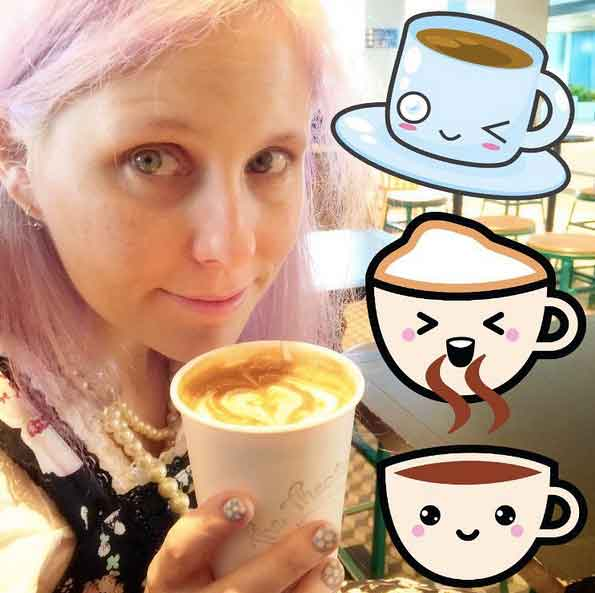 my first soy latte in Tokyo