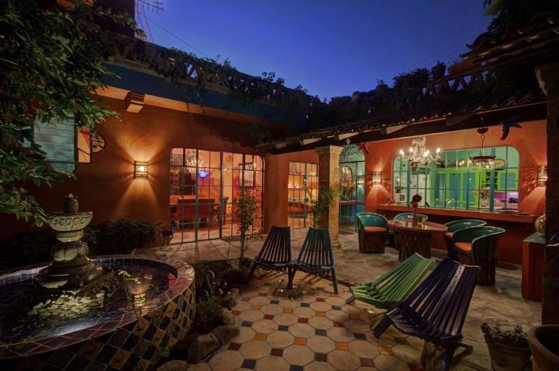 Evening on the patio is where the romance begins.