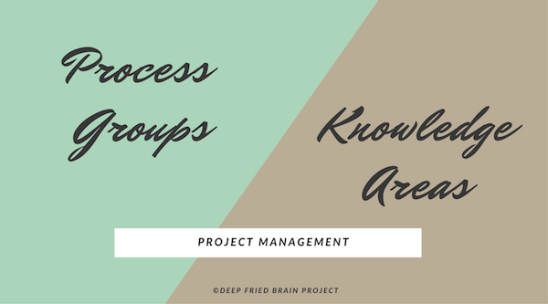Difference between PMBOK Process Groups and Knowledge Areas