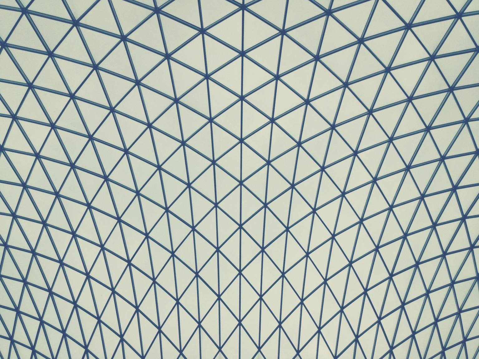 Triangles, British Museum ceiling