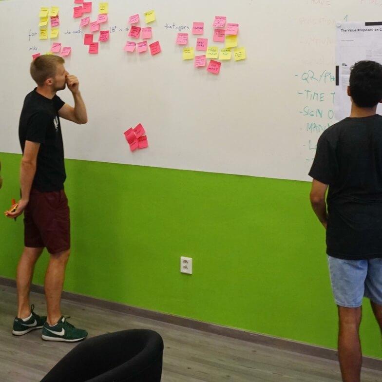 UX designers from LB* team brainstorming