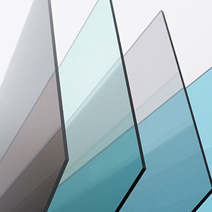 I vari colori di policarbonato