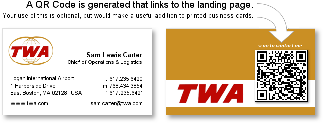 QR Code for Business Card