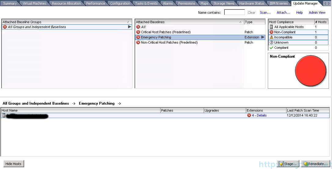 ESXi patching using VMware Update Manager 3