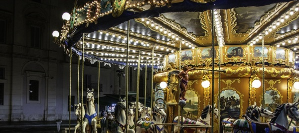 Picture of a fair carousel