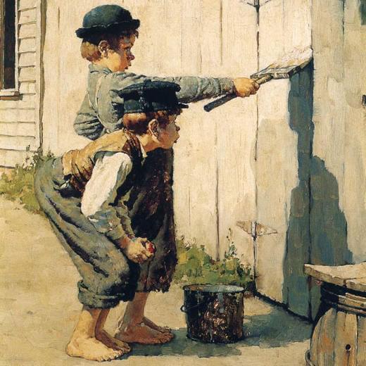 Норман Роквелл (1894–1978), иллюстрация к«Приключениям Тома Сойера»